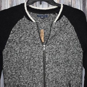 American Eagle Outfitters Varsity Zip Sweater New